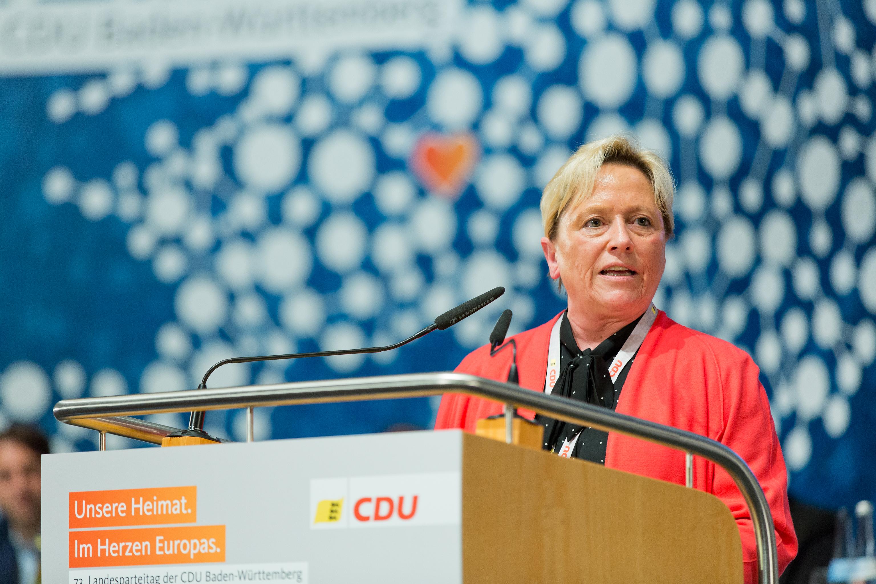Susanne Eisenmann ist CDU-Spitzenkandidatin!